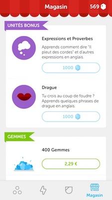 Magasin Duolingo