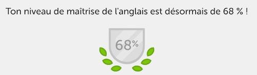 Niveau maitrise Duolingo