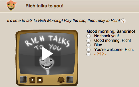 Rich Talks to you