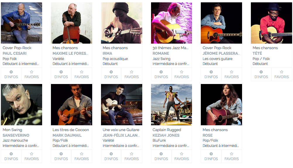 Artistes guitare acoustique imusic-school